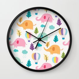Cute Elephant Wall Clock
