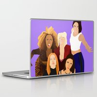 girl power Laptop & iPad Skins featuring Girl Power by Jara Montez
