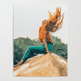 Live Free #painting Poster