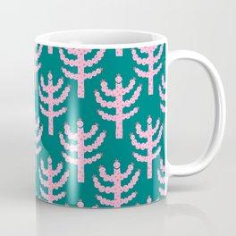 Mid Century Modern Pink Tree Coffee Mug