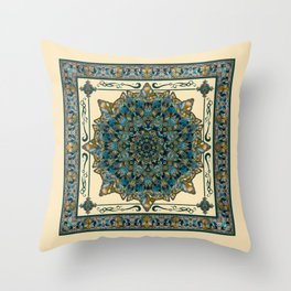 Stained Glass Mandala 2 Throw Pillow