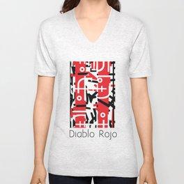 Diablo Rojo x Manuel Jaen (Red Devil) Unisex V-Neck