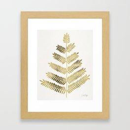 Gold Leaflets Framed Art Print