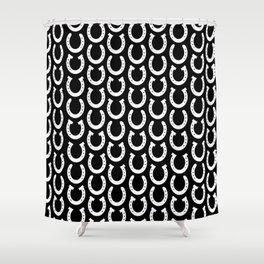 White Horseshoes Shower Curtain