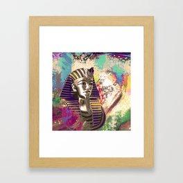 King Tut  Mask Abstract composition Framed Art Print