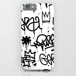Crowns & Graffiti pattern iPhone Case