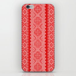 Ukrainian embroidery red and white iPhone Skin