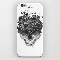 My head is a jungle (b&w) iPhone Skin