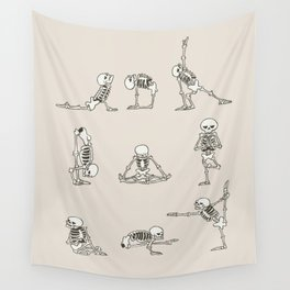 Skeleton Yoga Wall Tapestry