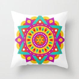 Mandala Yoga Massage Meditation Esoteric Symmetrical Art Gift Throw Pillow