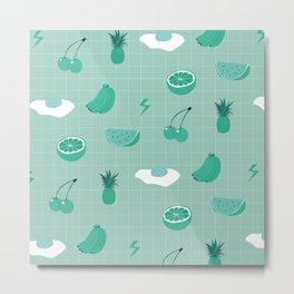 Monochrome fruit (green) Metal Print