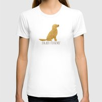 golden retriever T-shirts featuring Golden Retriever by 52 Dogs