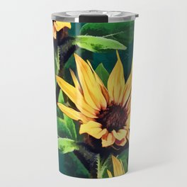 Watercolor sunflowers Travel Mug