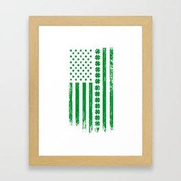 USA St. Patrick's Day Flag alcohol Gift Framed Art Print