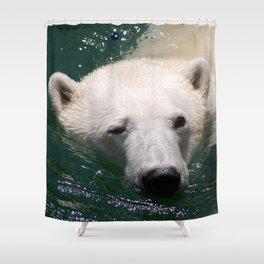 Polar bear's delight Shower Curtain