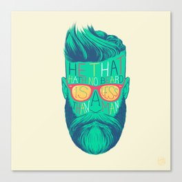 He That Hath No Beard Canvas Print