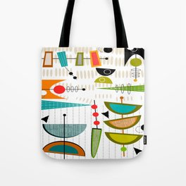 Mid-Century Modern Abstract Atomic Art Tote Bag