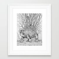 caitlin hackett Framed Art Prints featuring The Wandering Home by Caitlin Hackett