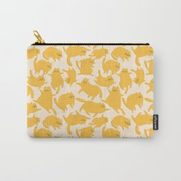 Yellow Cats Pattern Carry-All Pouch