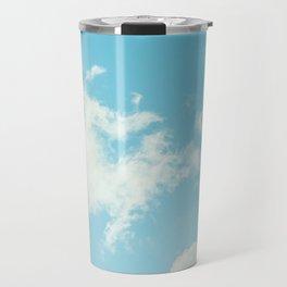 Perfect Blue Summer Sky Nature Photography Travel Mug
