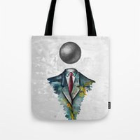 magritte Tote Bags featuring Mr. Man • René Magritte by Ian Vicknair