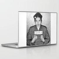 parks and rec Laptop & iPad Skins featuring Rosa Parks Mugshot by All Surfaces Design
