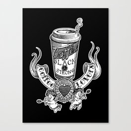 Coffee Lovers (black version) Canvas Print
