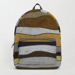 Nordic Layers - Abstract, Textured Art Backpack