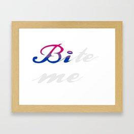 Bi-te me Framed Art Print