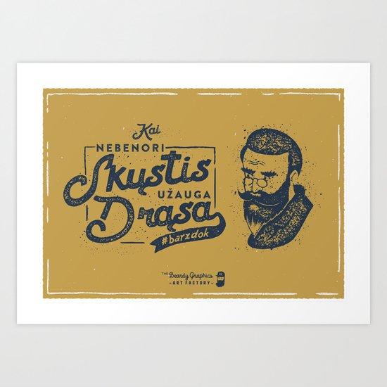 No Shave November Lithuania Art Print
