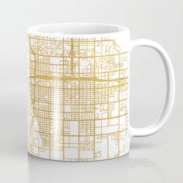 FRESNO CALIFORNIA CITY STREET MAP ART Coffee Mug
