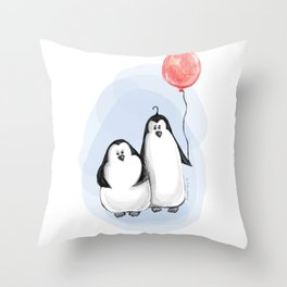 We are penguins Throw Pillow