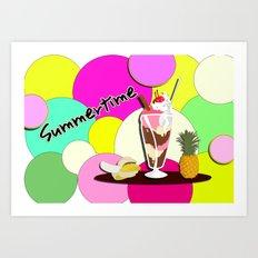 Summertime fruit drink Art Print