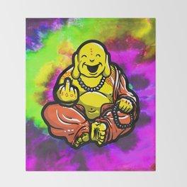 F U Buddha Throw Blanket