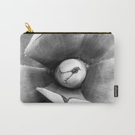 Cactus Succulent // Black and White Close up Desert Plant High Quality Photograph Carry-All Pouch