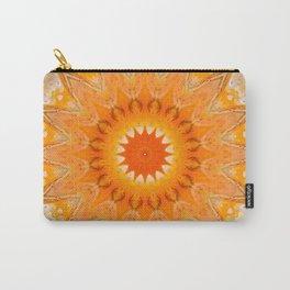 Sunny Mandala Design Carry-All Pouch