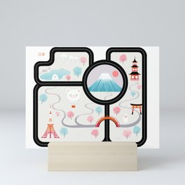 Map of Japan Mini Art Print