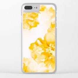 Beautiful Peony Flowers White Background #decor #society6 #buyart Clear iPhone Case