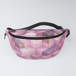 Abstract rose cubes Fanny Pack