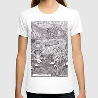 vermont T-shirts featuring Zentangle Vermont Mountain Pond by Vermont Greetings