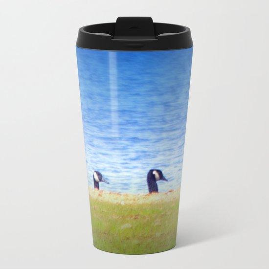 Goose Line Metal Travel Mug