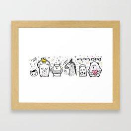 2 Very tasty coffee illustration Framed Art Print