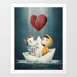 We All Float Art Print