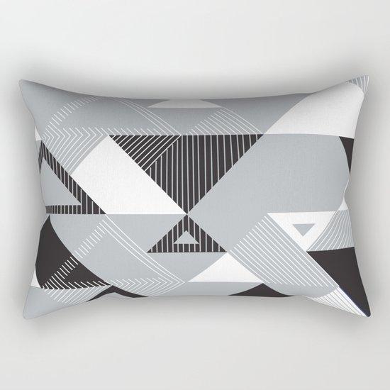 Silver Transparency Rectangular Pillow