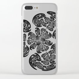Flowering Brains Clear iPhone Case