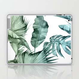 Tropical Palm Leaves Turquoise Green Blue Gradient Laptop & iPad Skin