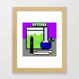 Pot Options Framed Art Print