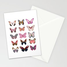 Pink Butterfly Collage Stationery Cards