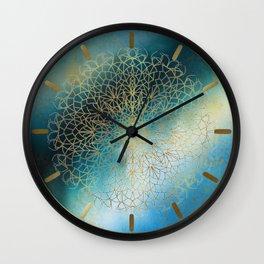 Gold Mandala Wall Clock
