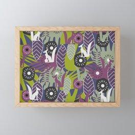 Wild decor with foxes Framed Mini Art Print